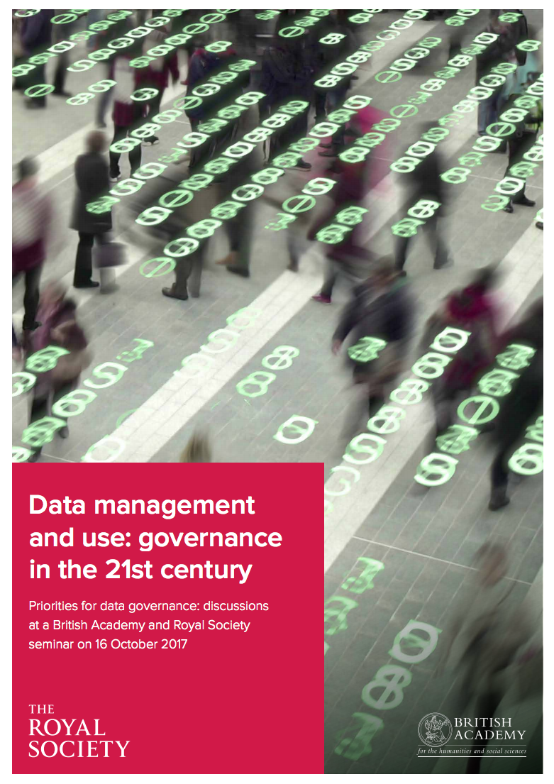 HAT provocation of the Royal Society's report on data management and use - October 2017