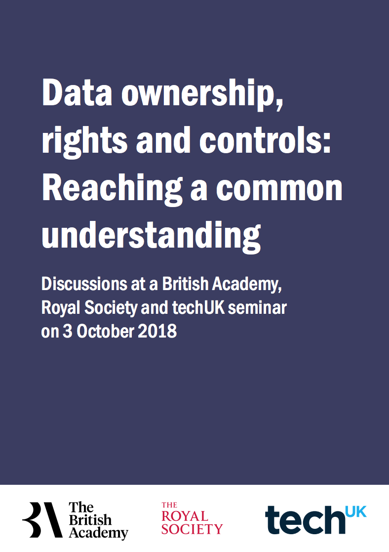 HAT data ownership model featured in the Royal Society, British Academy and TechUK report on Data ownership, rights and control - 12 December 2018
