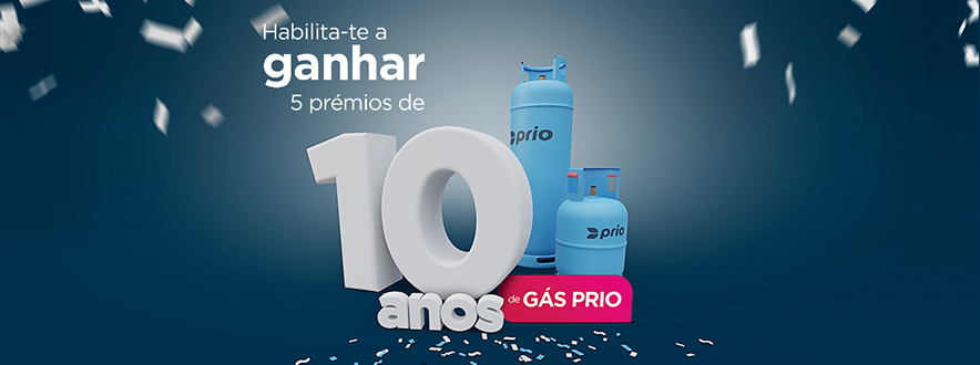 .... PRIO offers 10 years of free gas .. PRIO regala 10 años de Gas .. PRIO oferece 10 anos de Gás....