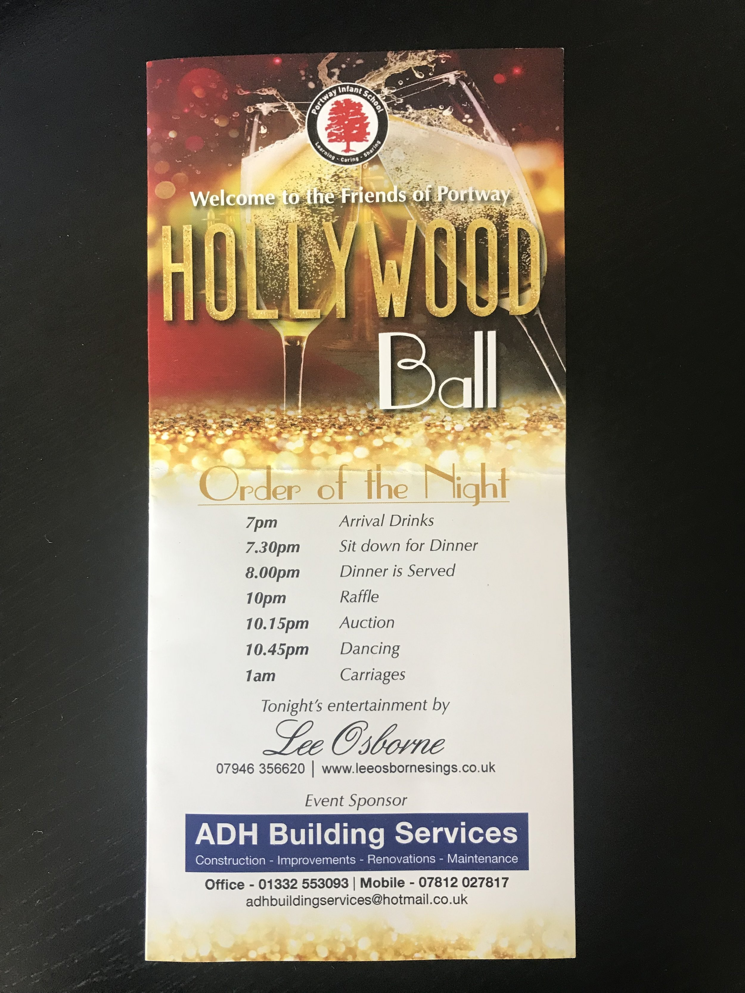 ADH Building Services sponsored our Local school summer ball to help them raise money for a new playground.