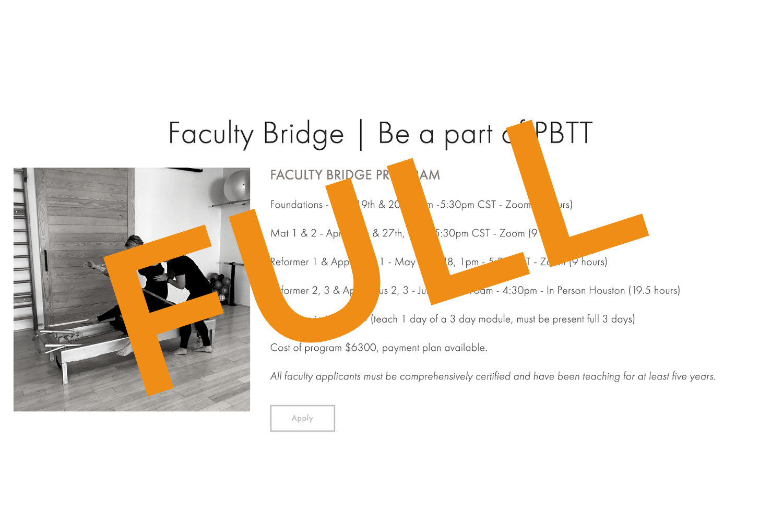 pilates education comprehensive certification contrology reformer mat ladder barrel