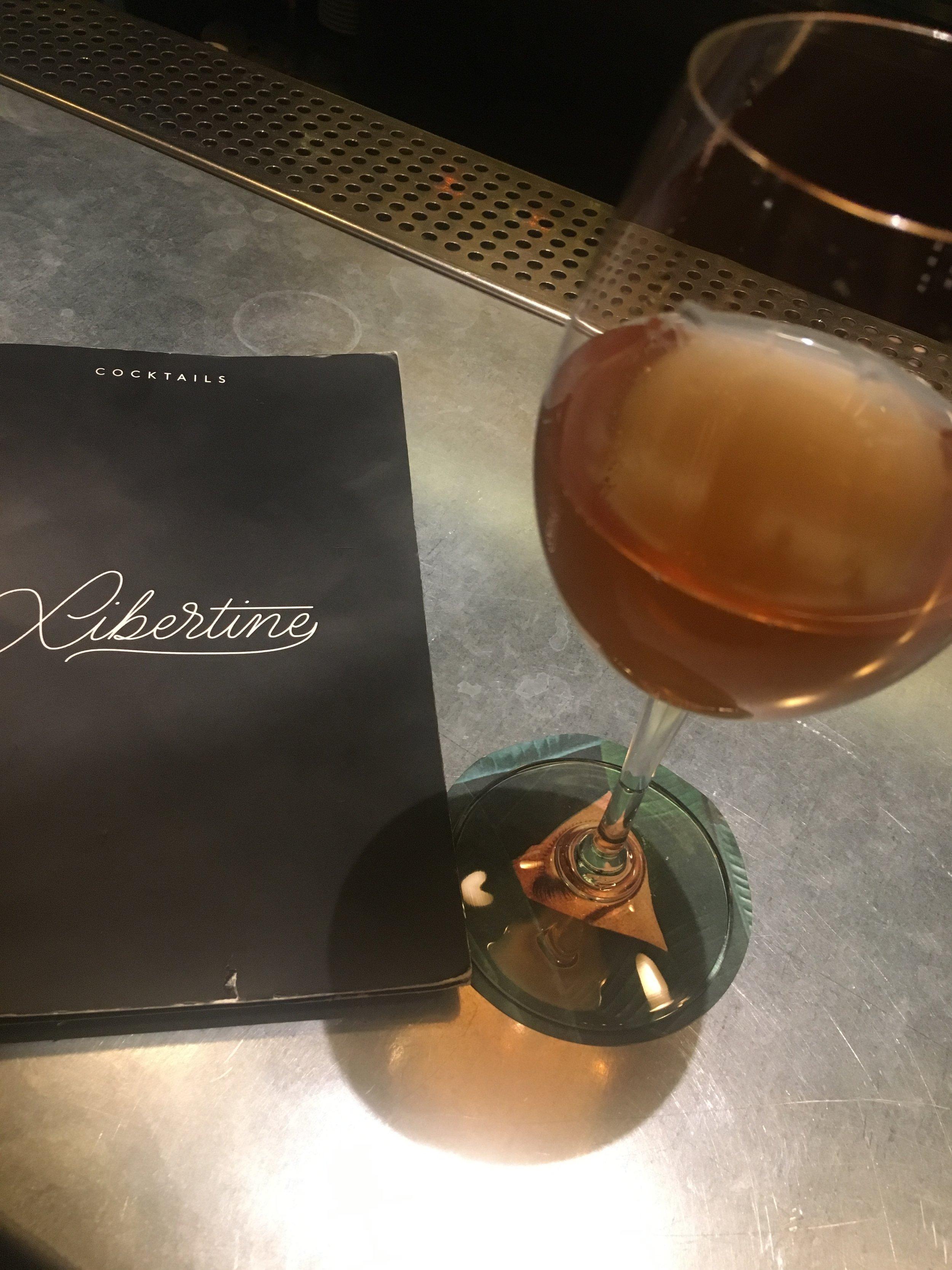 Sampling the wine list at The Libertine, Casa Bonay