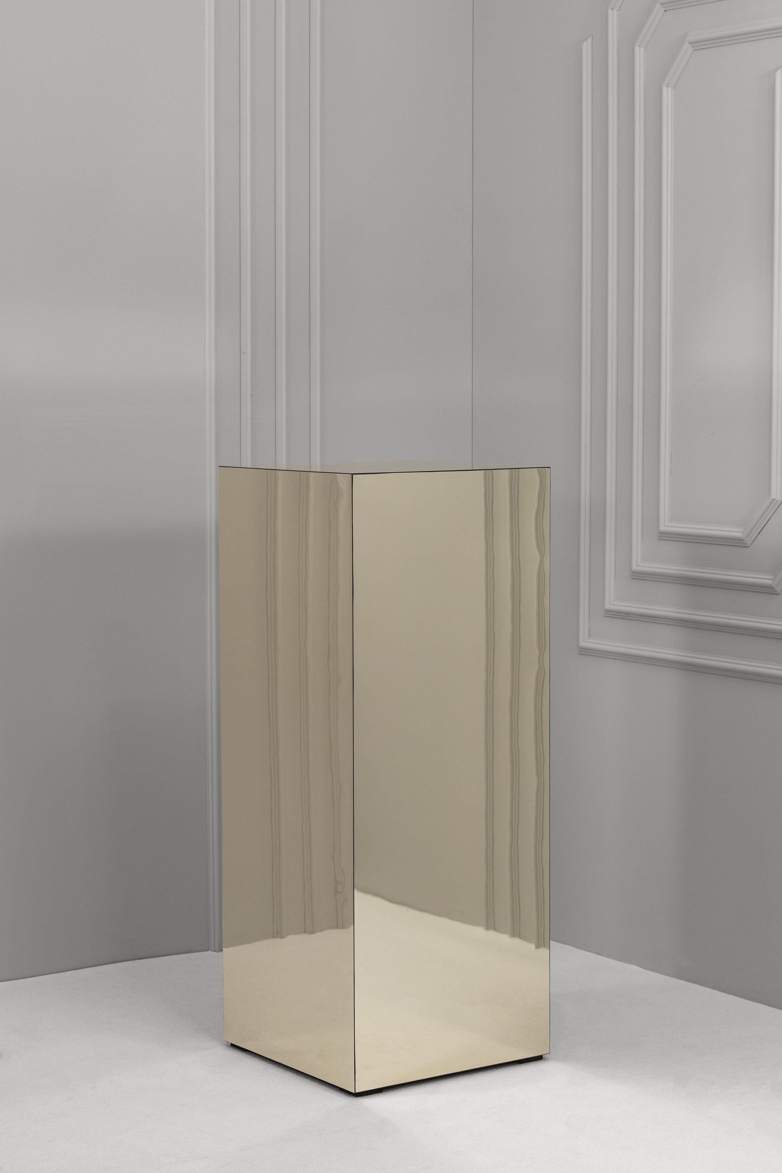 Champagne Mirror Plinths