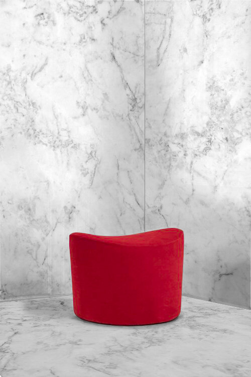 Marble and Red Swivel Chair.jpg