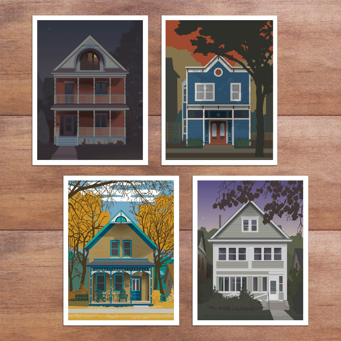Cards & Gifts - Sets of greeting cards, postcards, and posters are available upon request. Choose from existing house images or commission your own.