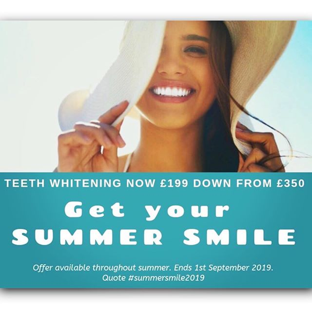 As the temperatures get warmer, our promo's are getting 🔥 HOTTER 🔥 !!! To get you all Summer Smile ready, we are offering all new & existing patients a Teeth Whitening package worth £350 reduced to £199!!! ☀️😁✨ This includes bespoke custom made bleaching trays and over 2 weeks worth of PolaDay Whitening gel 💥💥 📲 For more information or to book an appointment, call 01925752209 or email enquiries@creatingbeautifulsmiles.co.uk  https://creatingbeautifulsmiles.co.uk/teeth-whitening  Offer subject to eligibility. Ends 1st September 2019. Can also be given in vouchers should you wish to gift it to family or friends ❤️ @pola_smile x  #whiteteeth #summer #smile #dentist #cleanteeth #teethwhitening #polawhitening #offer #summersmiles #summersmile #cheshire #manchester #cosmeticdentistry #cosmeticdentist #privatedentist