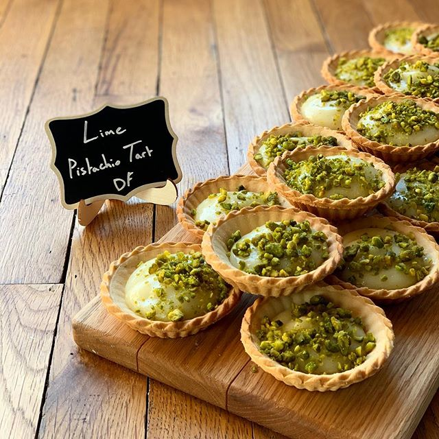 For dessert today we have a zesty Lime and Pistachio Tart. 😋 DF - - - #rida #ridakitchen #lime #tart