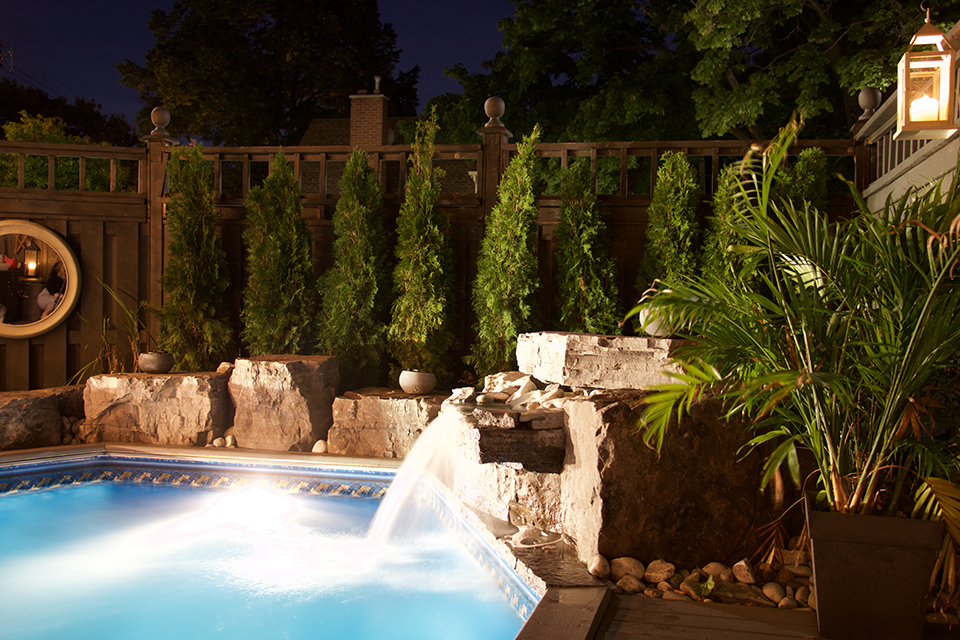 Water Features - Ponds, Bubbling rocks & Waterfalls.