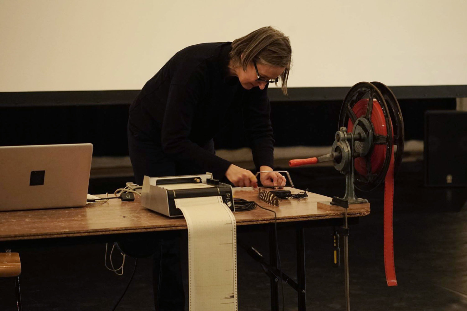 Hilde D'Haeyere during a previous performance at Visite Film Festival