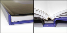 Adhesive BoundSquare-Back - Adhesive BoundBinding that involves securing loose pages into a solid text block by means of an adhesive rather than by means of sewing or stitching.