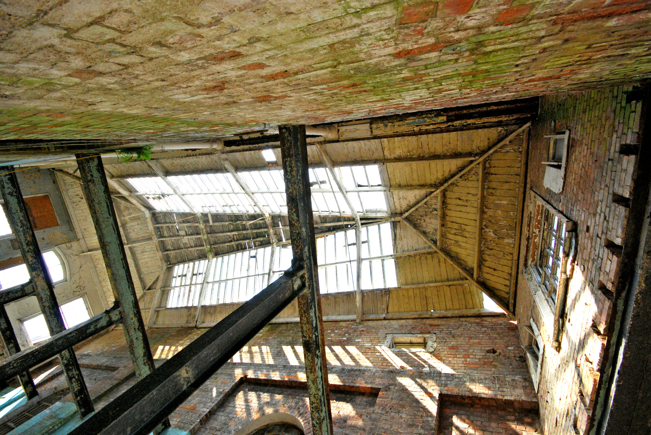 Albion Archaeology project. Roof of the Wolverton Royal Train Sheds, May 2008