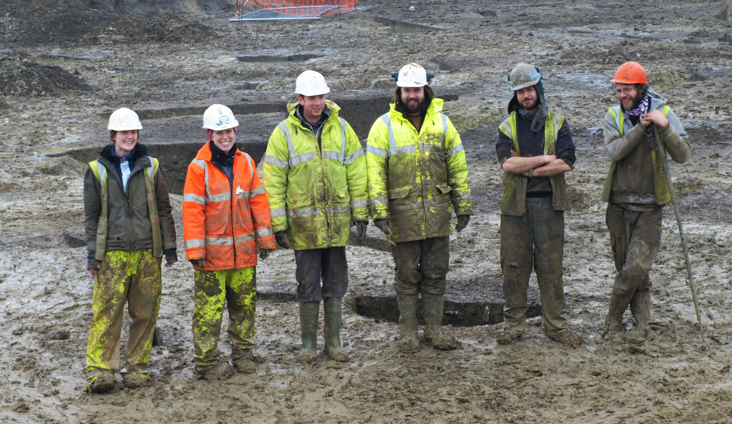 A group of the Albion Archaeology team on site