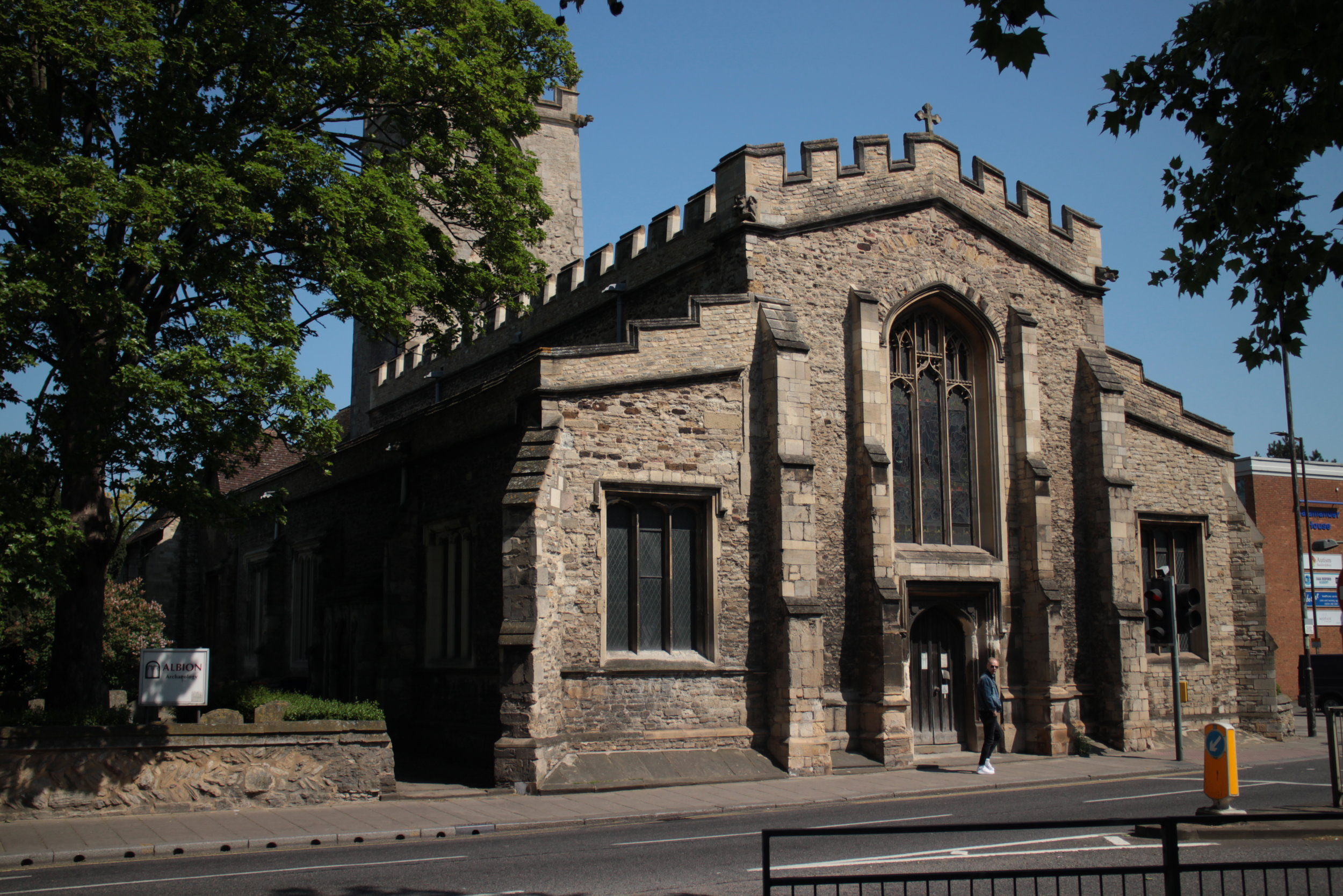 St. Mary's Church, Bedford - view from the south