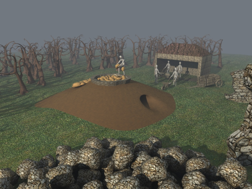 Reconstruction of the lime kiln