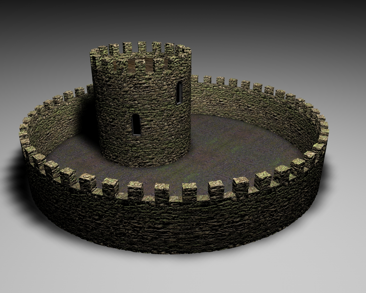Reconstruction of the castle wall and tower
