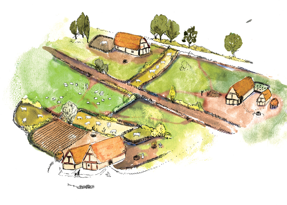 Reconstruction of Stotfold during the Late Saxon period