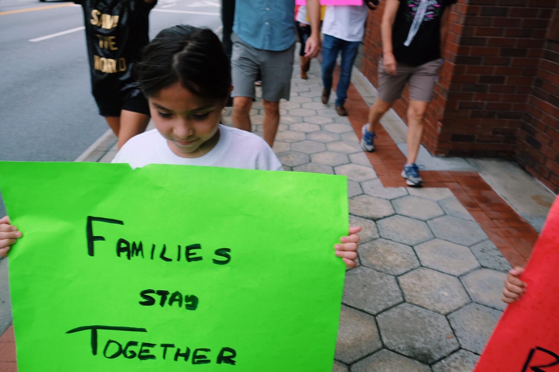 'FAMILIES BELONG TOGETHER' march  LKLD, FL -