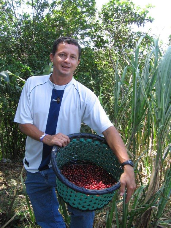 Alex at a coffee plantation Costa Rica