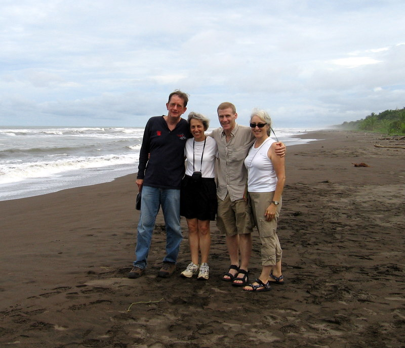 Ann and friends on the beach.JPG