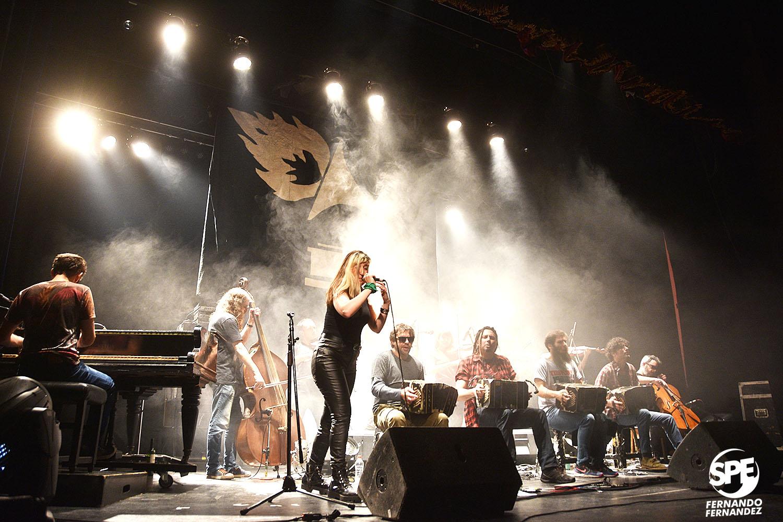 La Orquesta Fernandez Fierro se presentó en el teatro Xirgu, Buenos Aires, Argentina el viernes 2 de agosto de 2019. En el mismo evento se presentó tambien Acorazado Potemkin . 2 de agosto de 2019.Foto de: Fernando Fernandez.