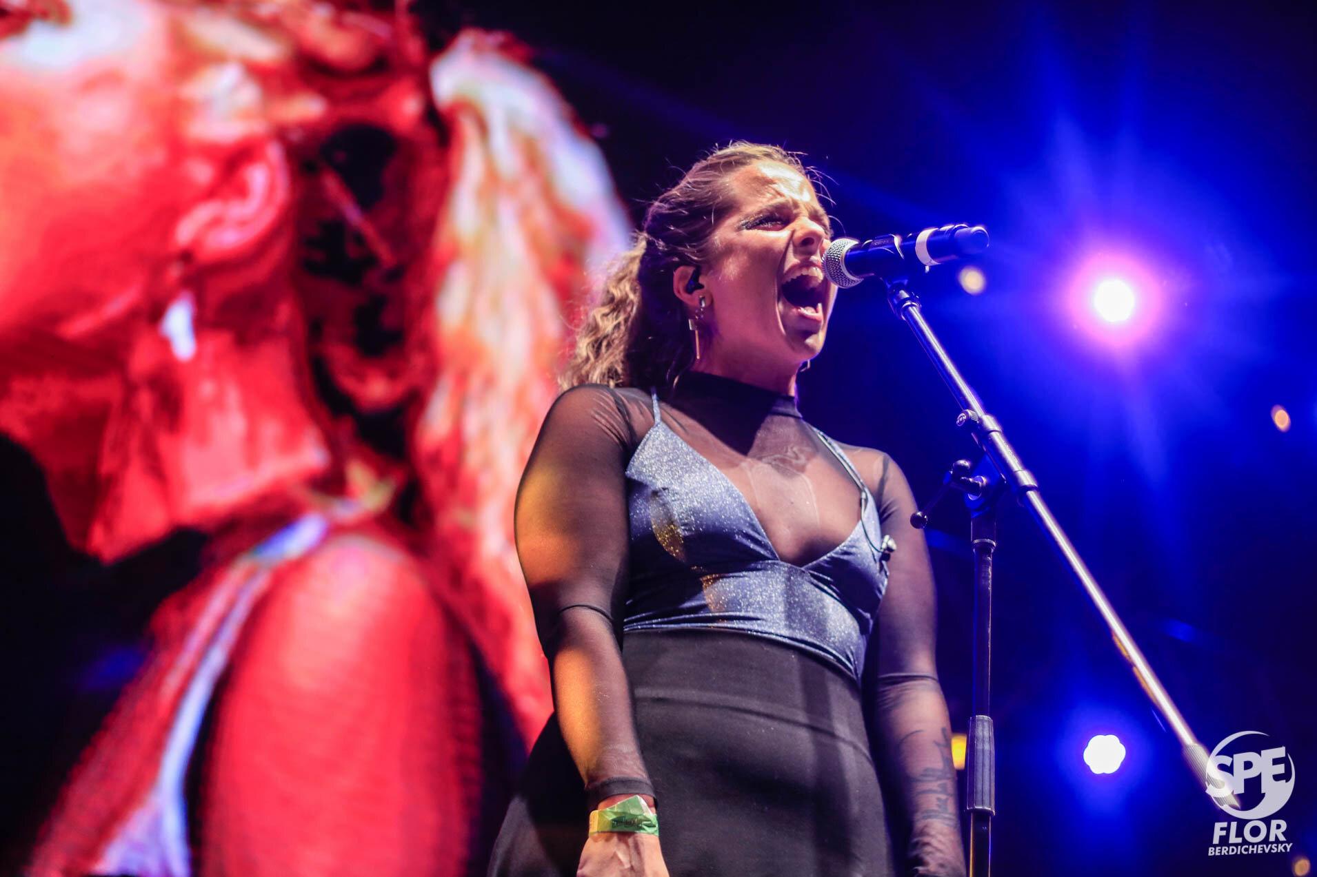 Barbie Recanati participa del Festival Futurock en el estadio Malvinas Argentinas, el 28 de Septiembre de 2019. El festival estuvo organizado por la radio Futurock. Foto de: Florencia Berdichevsky