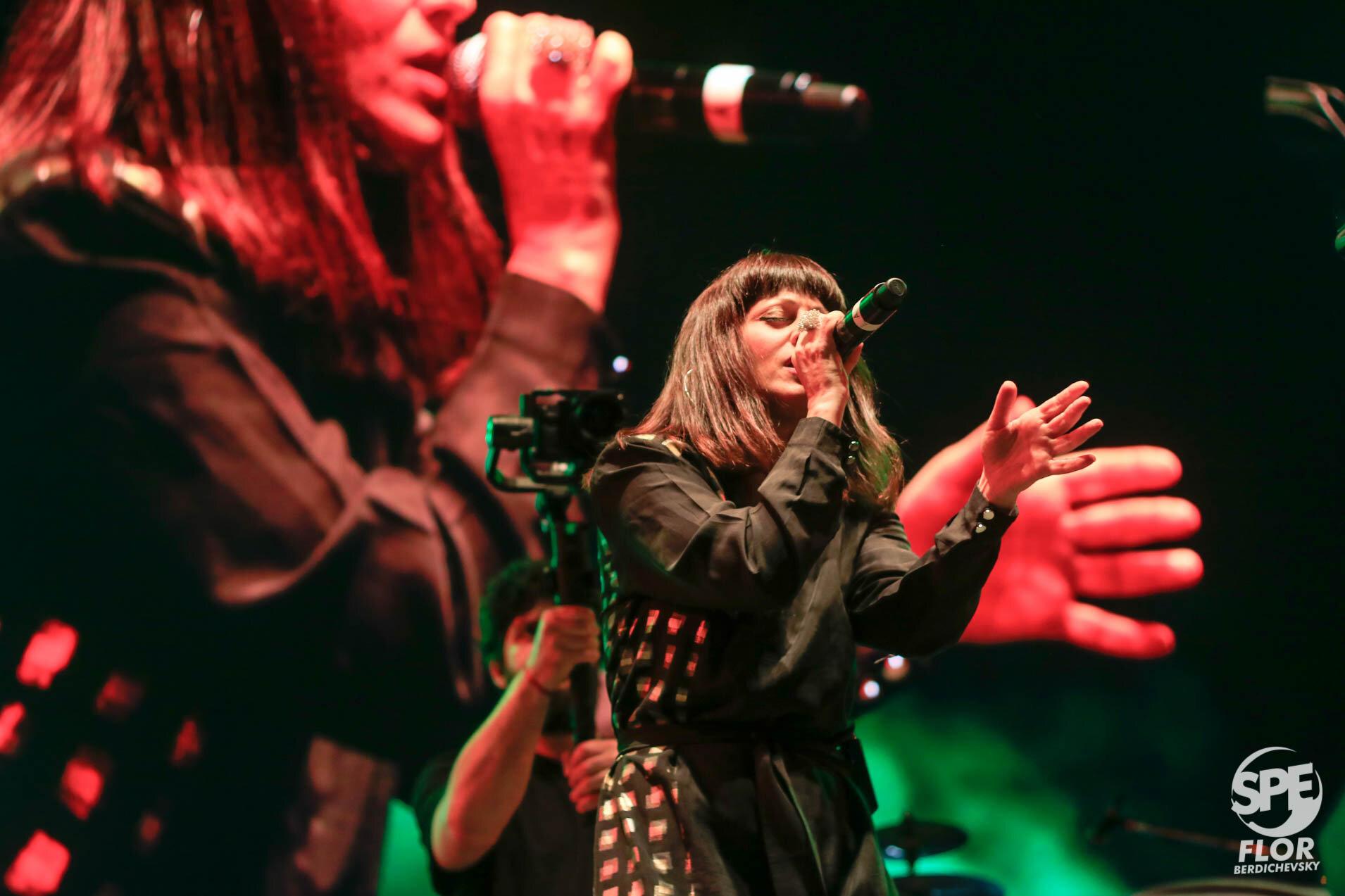 La banda Hana participa del Festival Futurock en el estadio Malvinas Argentinas, el 28 de Septiembre de 2019. El festival estuvo organizado por la radio Futurock. Foto de: Florencia Berdichevsky