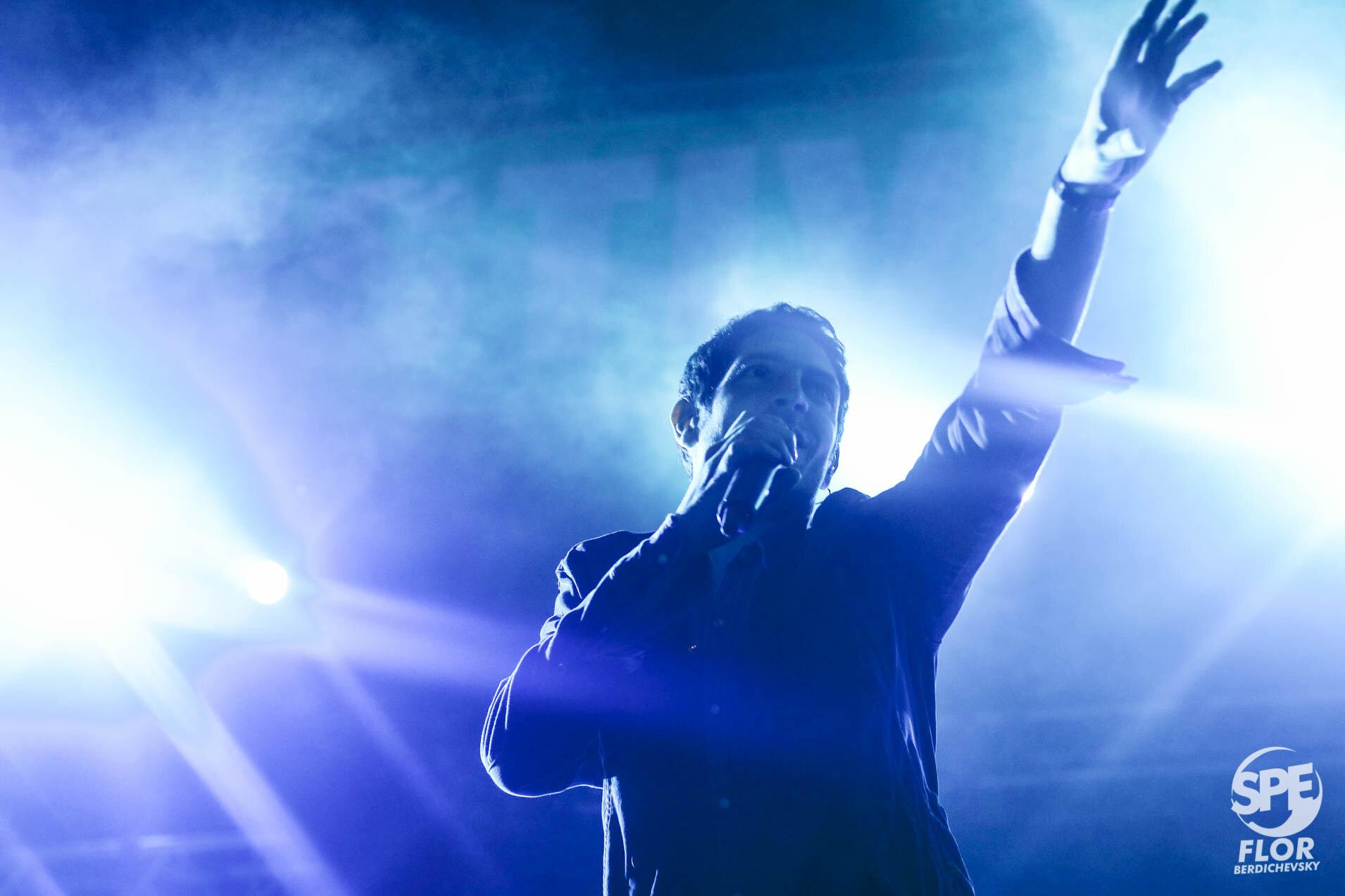 La banda El Kuelgue participa del Festival Futurock en el estadio Malvinas Argentinas, el 28 de Septiembre de 2019. El festival estuvo organizado por la radio Futurock. Foto de: Florencia Berdichevsky