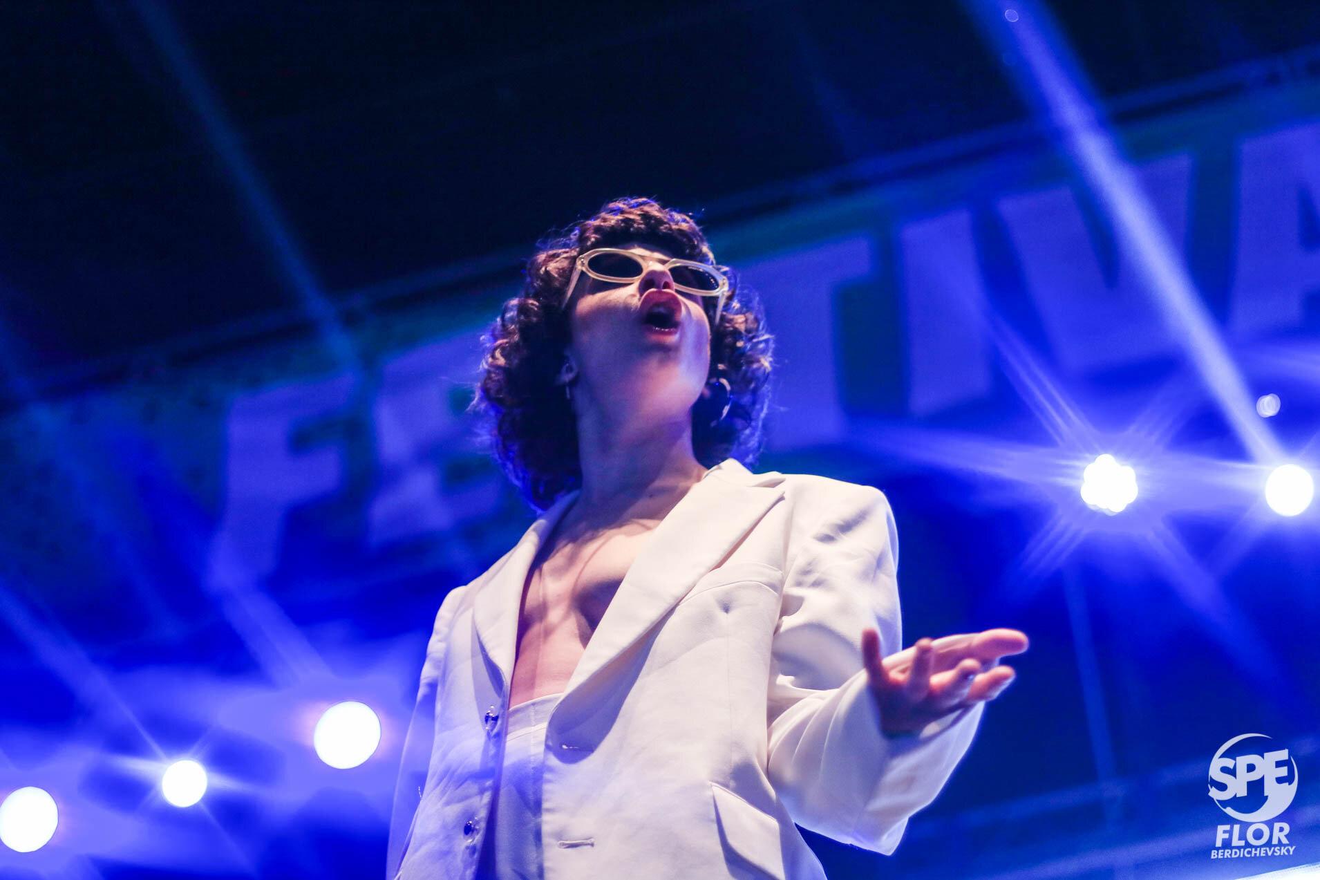 La ganadora del Gardel de oro, Marilina Bertoldi participa del Festival Futurock en el estadio Malvinas Argentinas, el 28 de Septiembre de 2019. El festival estuvo organizado por la radio Futurock. Foto de: Florencia Berdichevsky