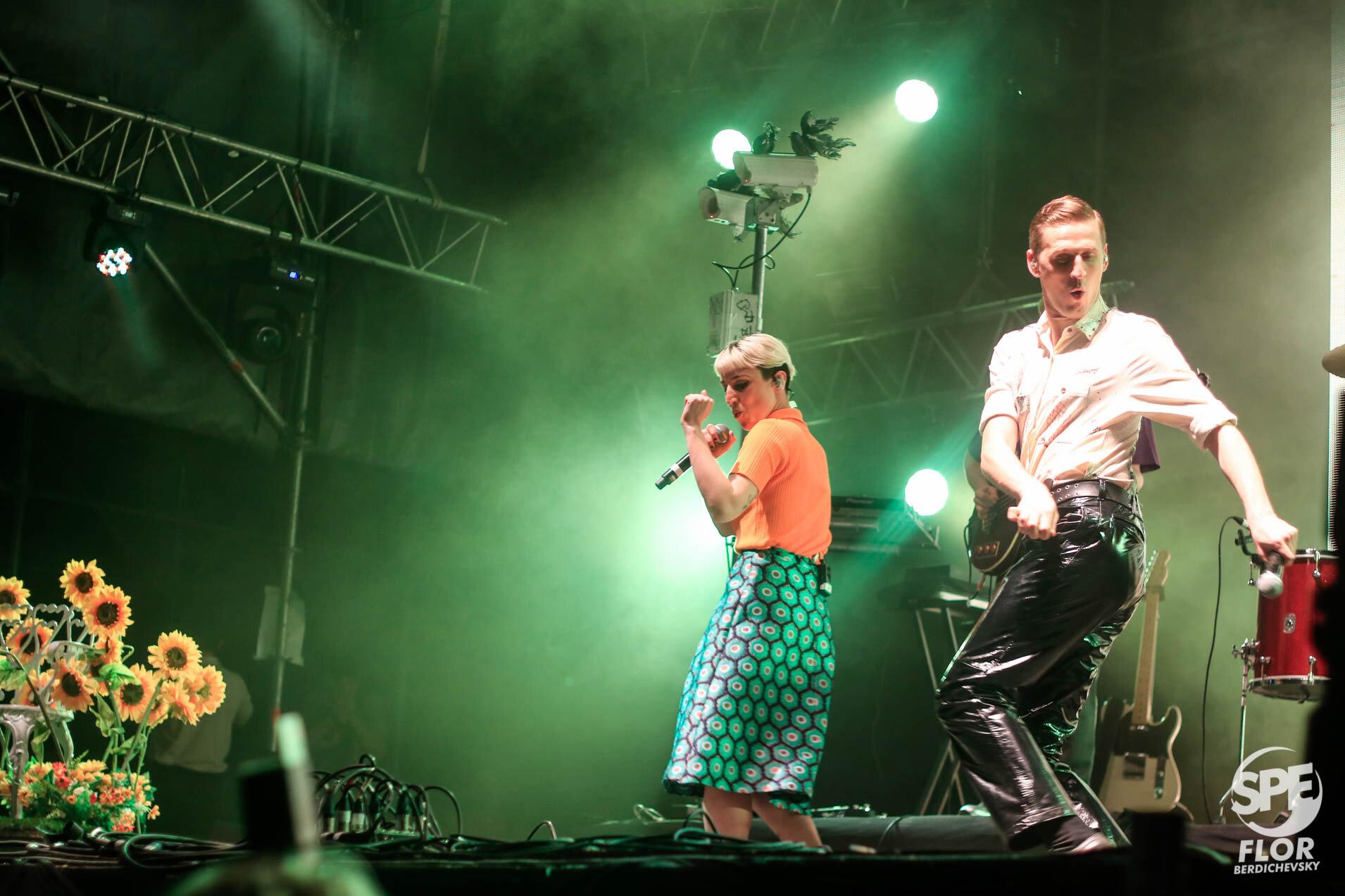 Louta participa del Festival Futurock en el estadio Malvinas Argentinas, el 28 de Septiembre de 2019. El festival estuvo organizado por la radio Futurock. Foto de: Florencia Berdichevsky