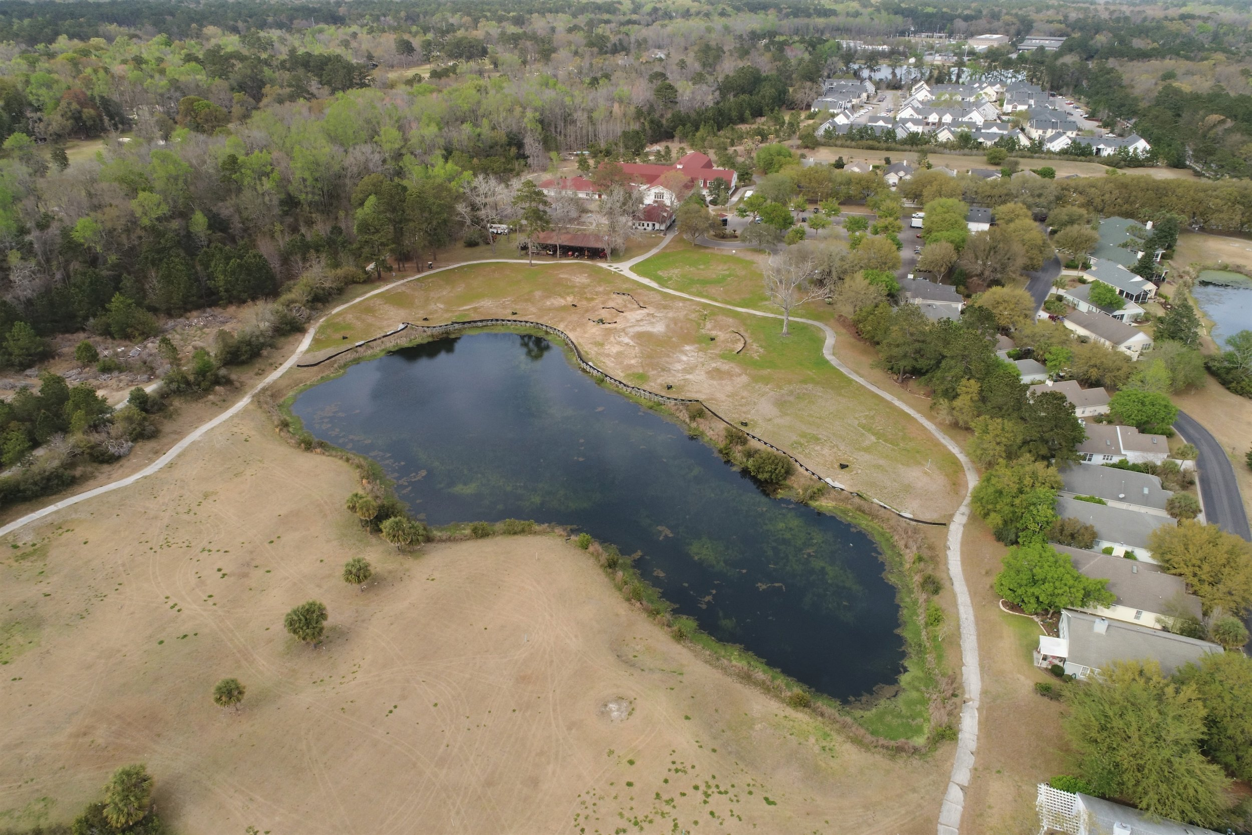Aerial drone shot of IJGA's breaking ground on Himalaya Greens construction project, early 2018.