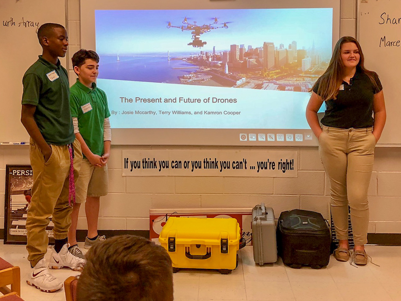 Educational Opportunities - We participate in educating people of all ages on drone technology and the use of them for problem solving in real-world environments. If you would like us to come to your school or organization to speak with the students or interested parties, please let us know.