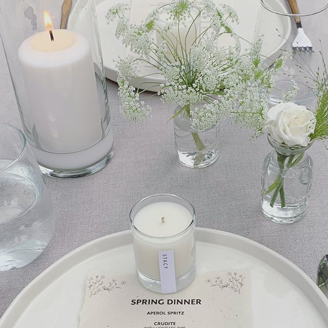 Form + Function. Our 2.5oz votives can also be used as the best smelling place cards you ever did see.