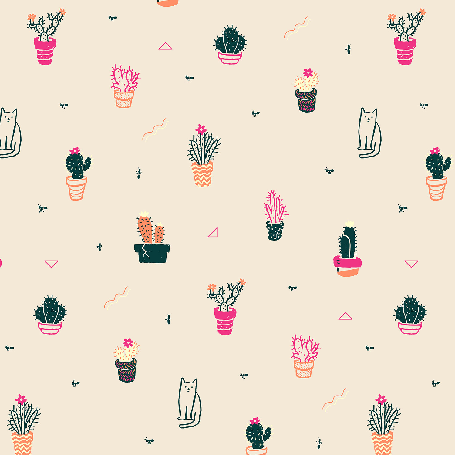 Cacti, Cats, and Ants