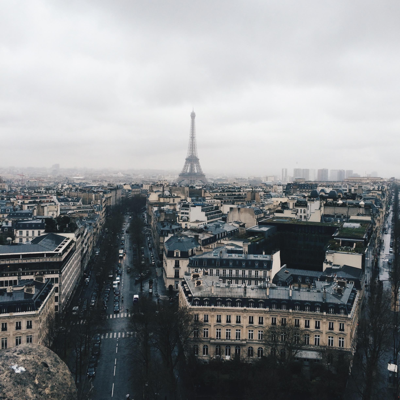 Views from Paris' Arc de Triomphe