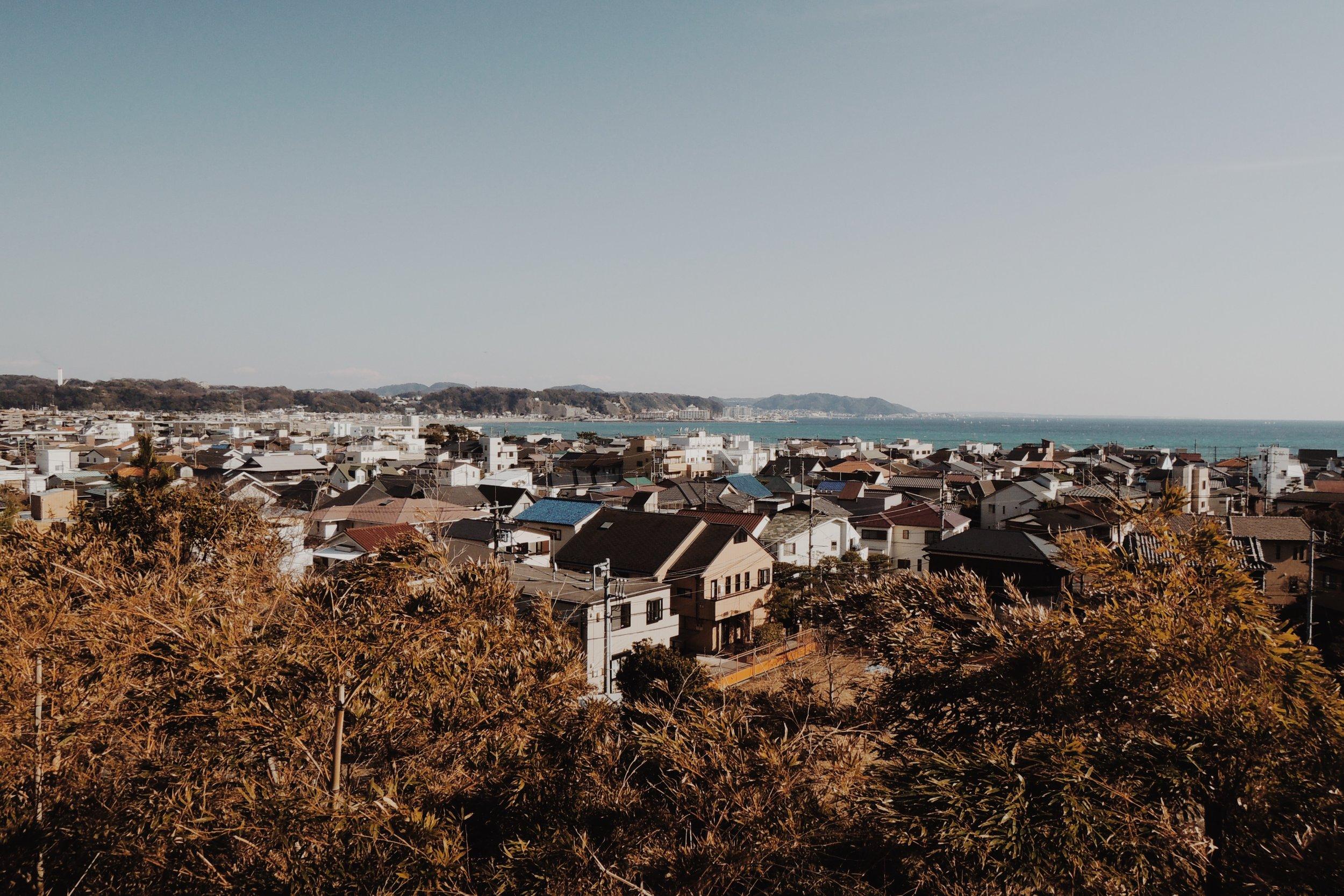 Postcard perfect views of the Sagami Bay