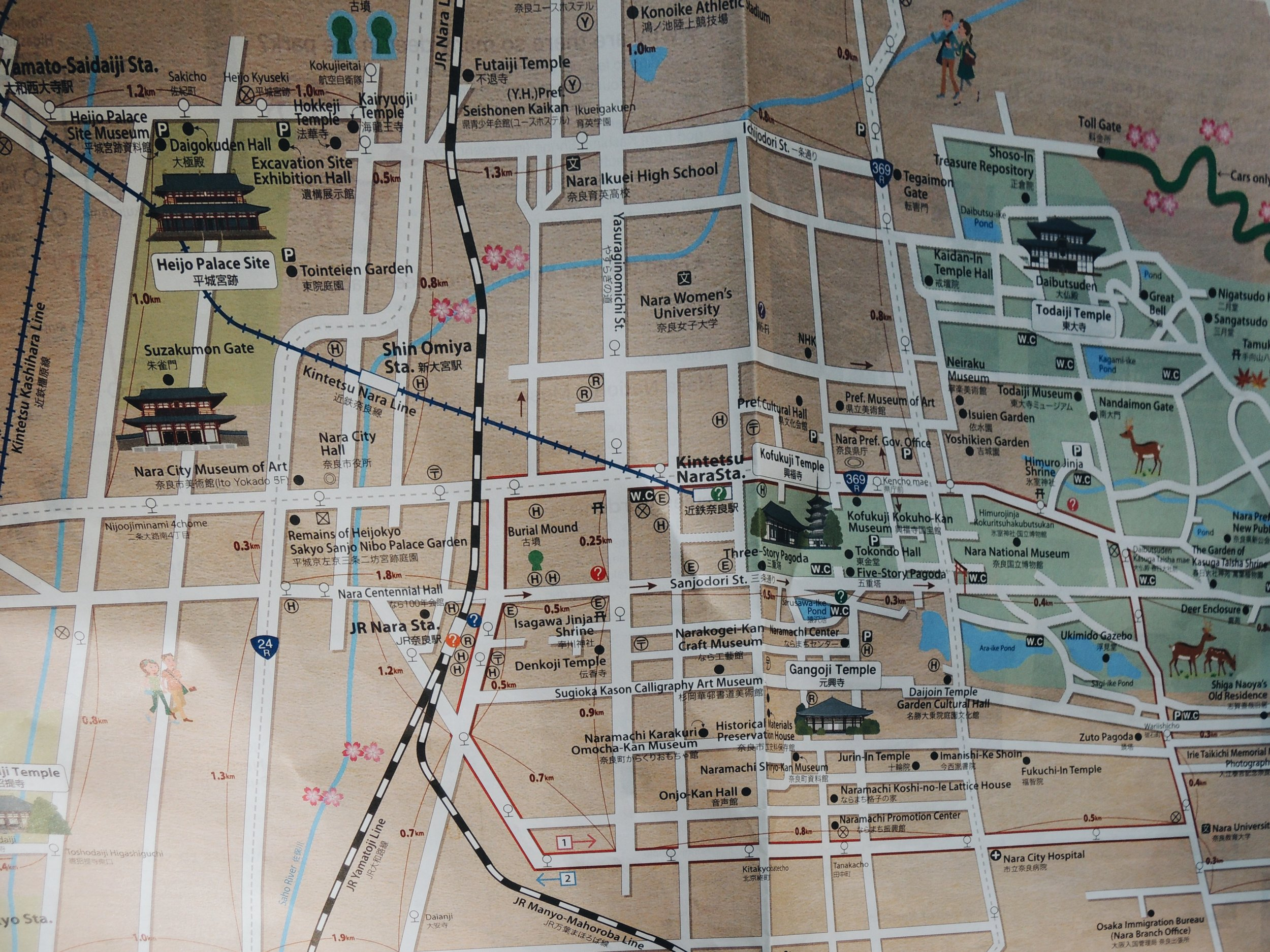 Nara's sightseeing map