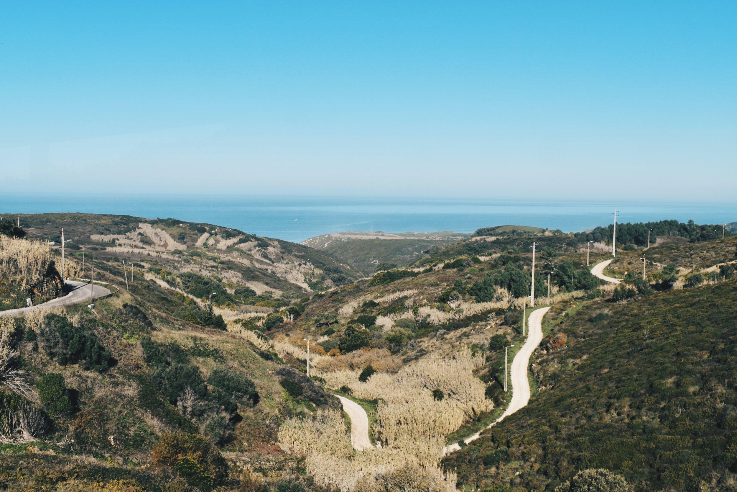Views from roads along the Atlantic Coast