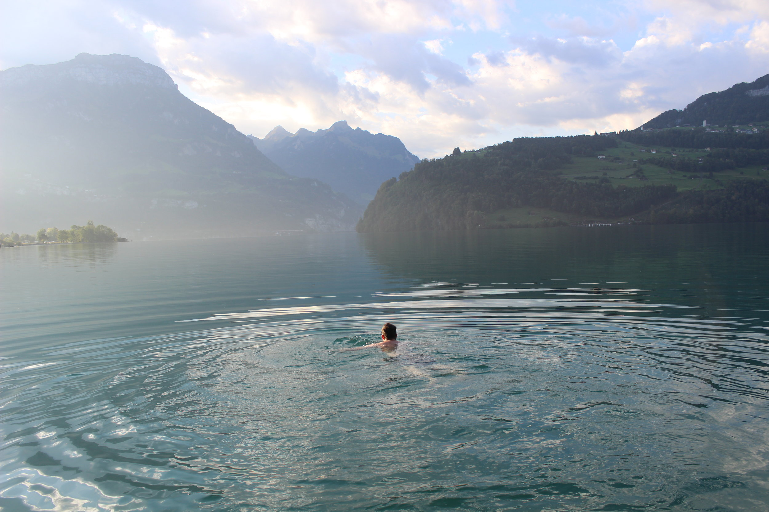 Our favourite place for a swim - Lake Lucern.JPG