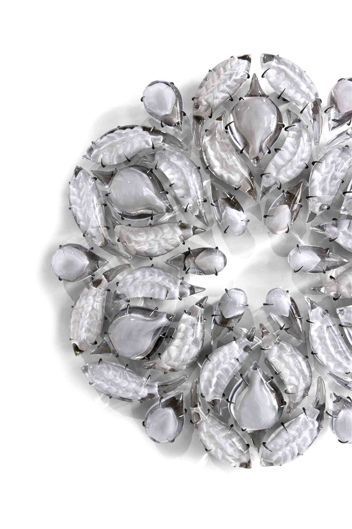 "'Demeter', 2017, Cast Crystal / Aluminum, 33.5"" x 33.5"" x 3.5"""