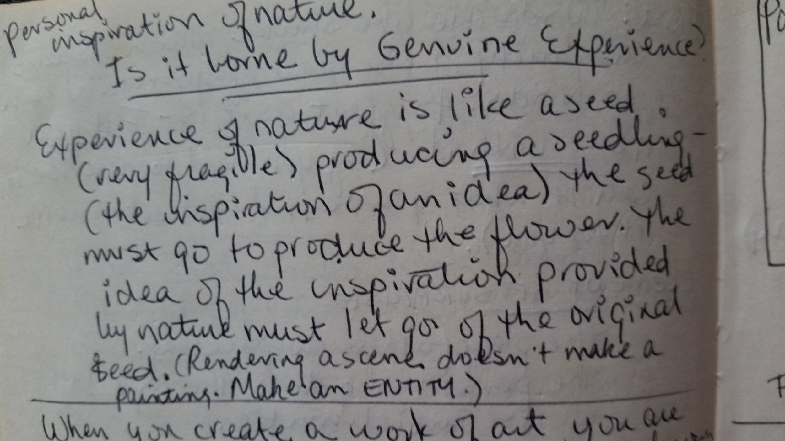 Notes from a 1970 Pachner workshop, words that make an impact on my decisions