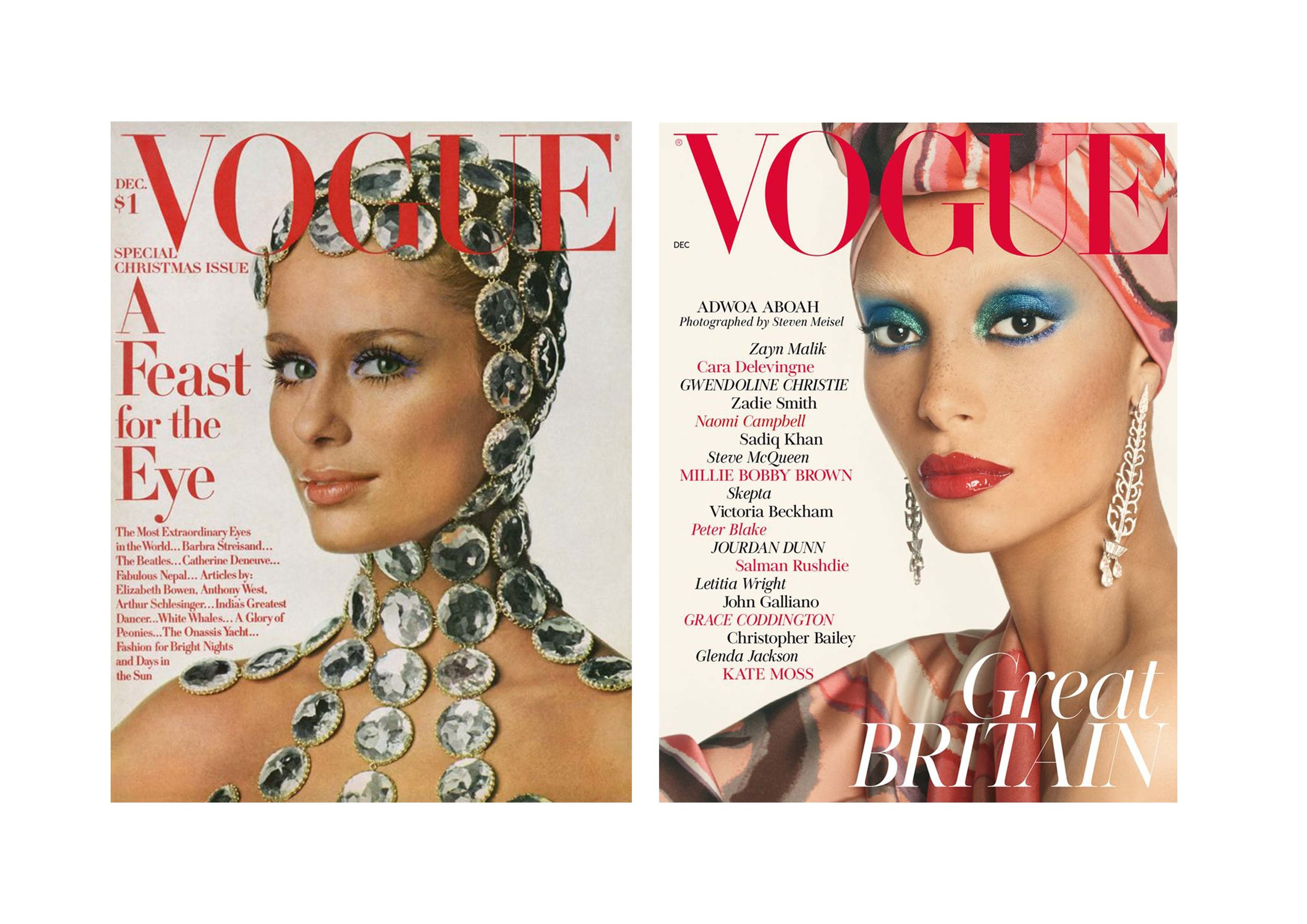 Vogue Cover 1960s                                             New Vogue UK 2017