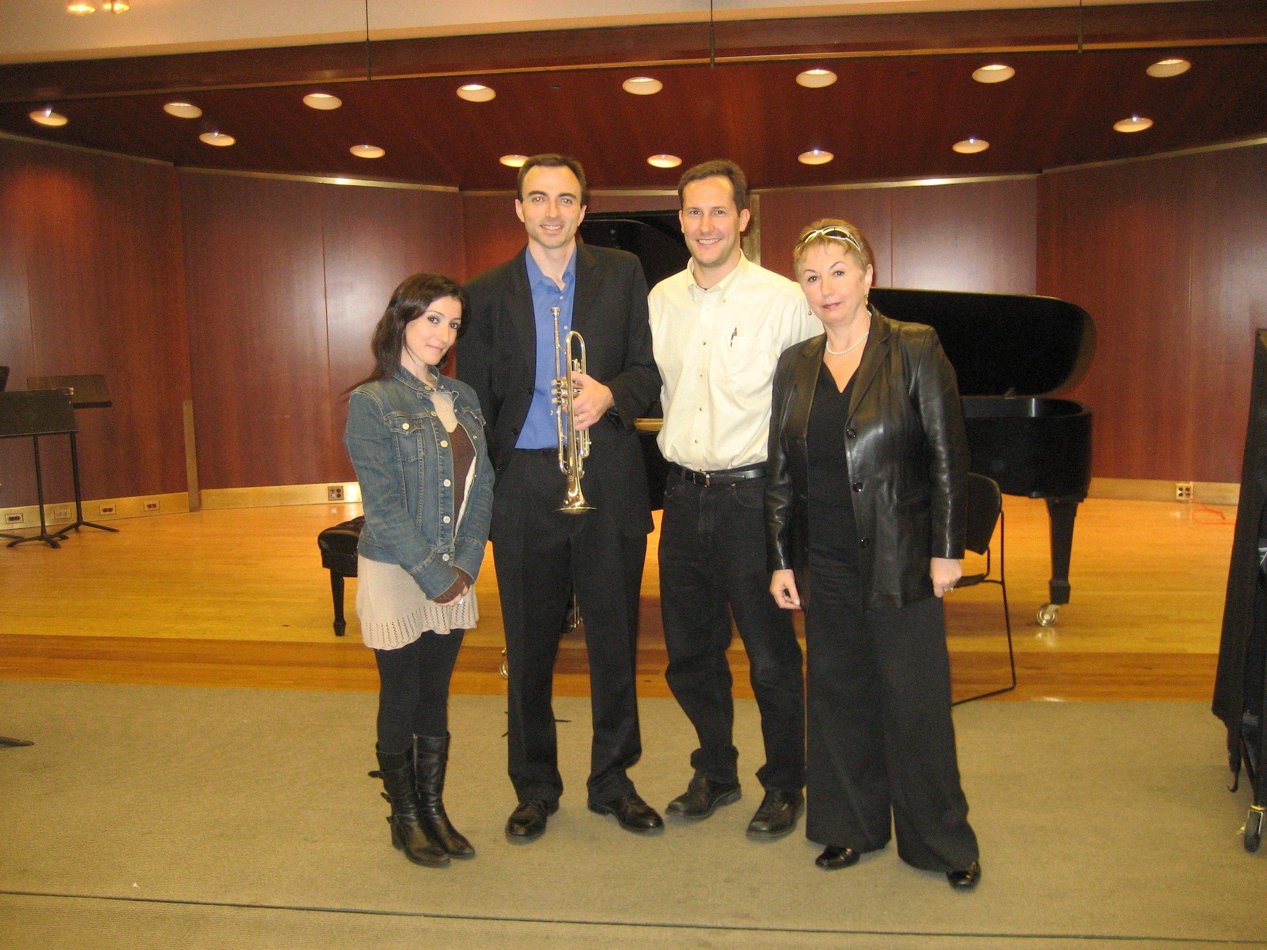 Masterclass at Juilliard School, Anna Dokshizer, Kevin Cobb and Irene Dokshizer