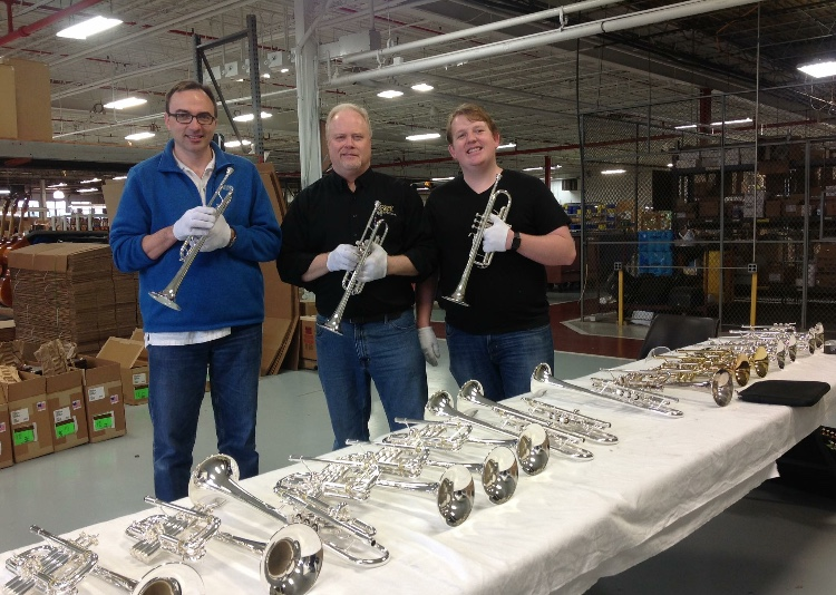 Trying C Trumpets at the Bach Factory with Jeff Christiana and Andy Lott