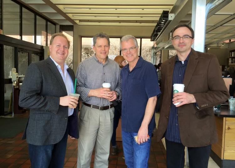 Chip Crotts, Mark Schubet and Wiff Rudd at Baylor University