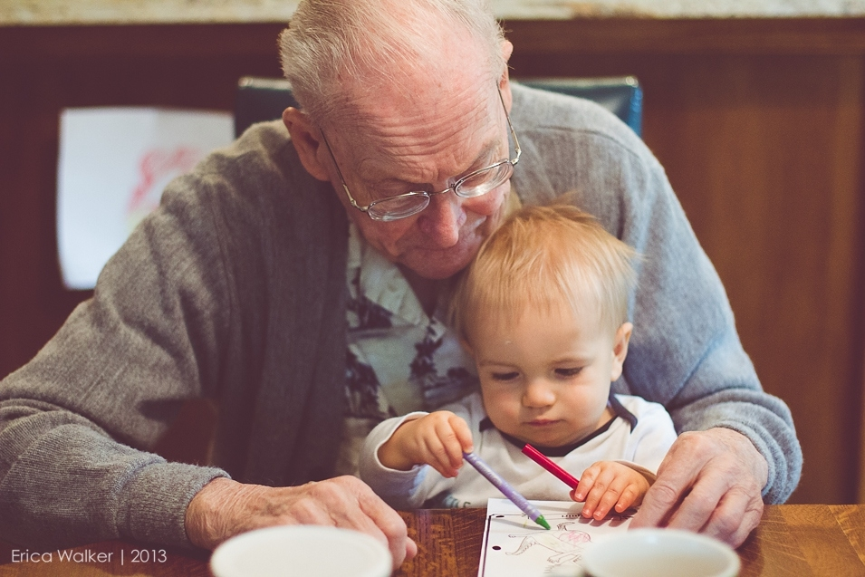 Grandfather and grandson - Erica Faith Photography