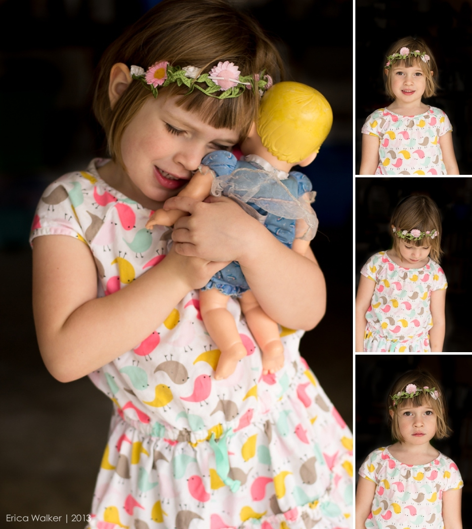 My preschooler with her doll - Erica Faith Photography