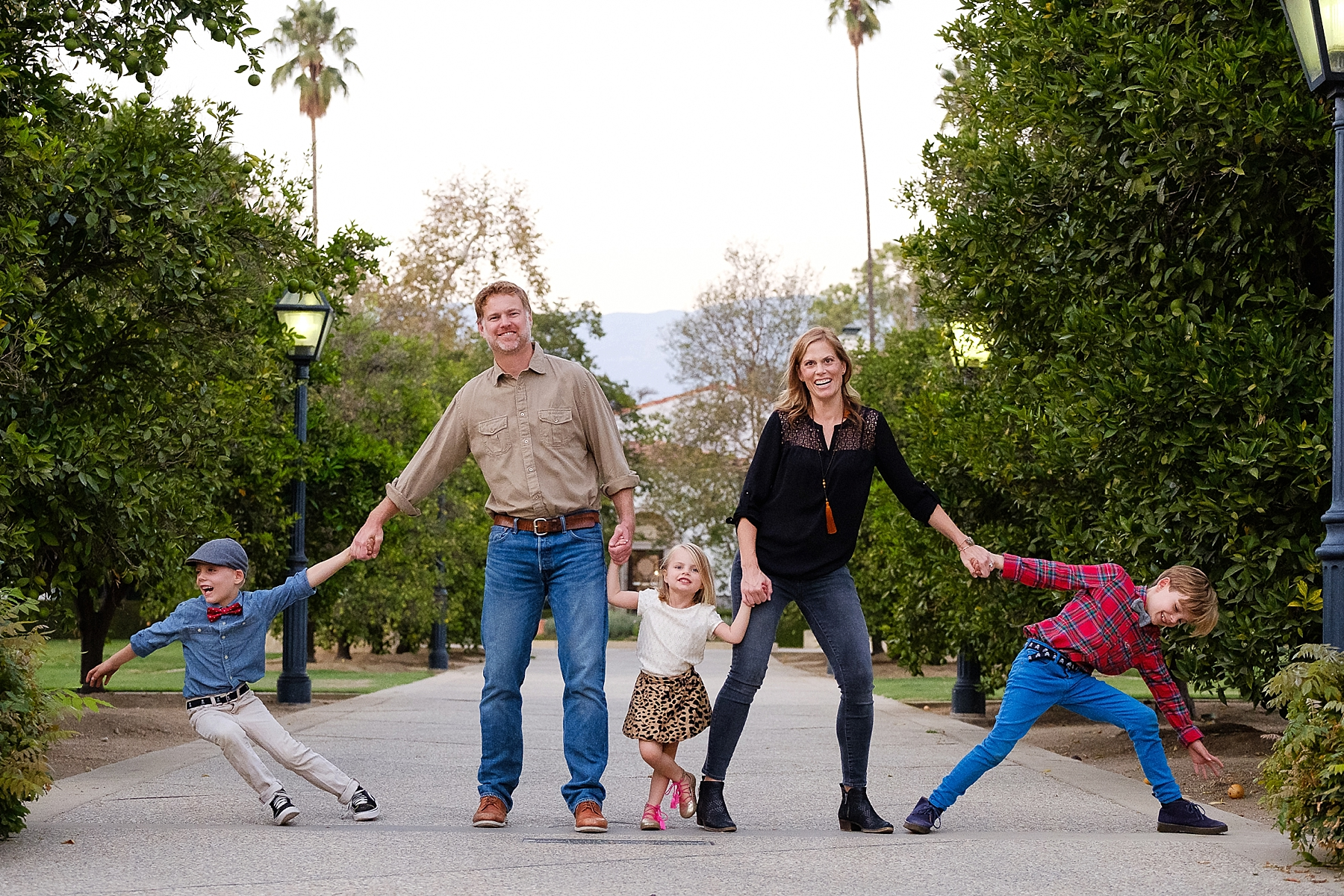 Family Photo Ideas at Scripps College in Claremont, CA