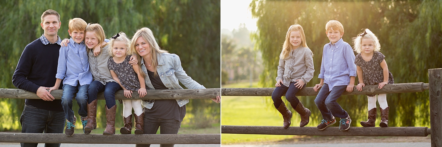 A cute family being photographed in San Dimas by Erica Faith Photography