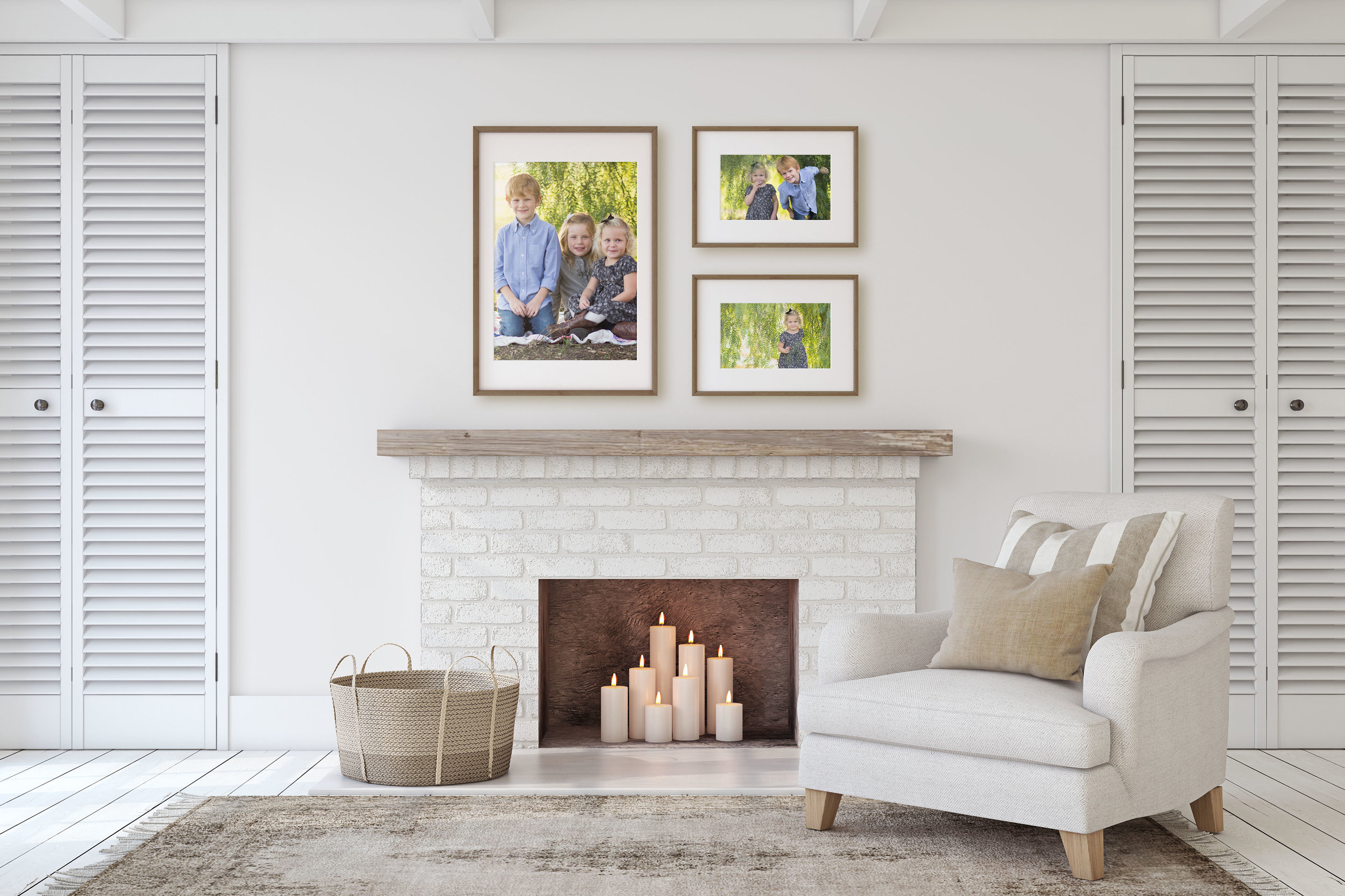 Find the perfect place to display your family's photographs.