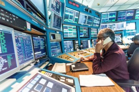 Control room at TRIUMF Vancouver, Canada.